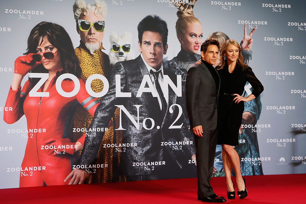 Actor Ben Stiller and actress Christine Taylor