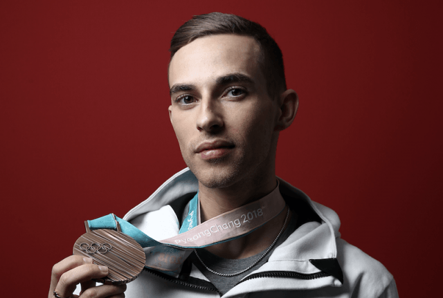 Adam Rippon and his bronze medal.