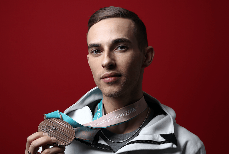 Adam Rippon and bronze medal