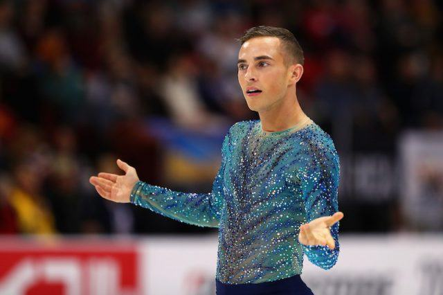 Adam Rippon on the skating rink.
