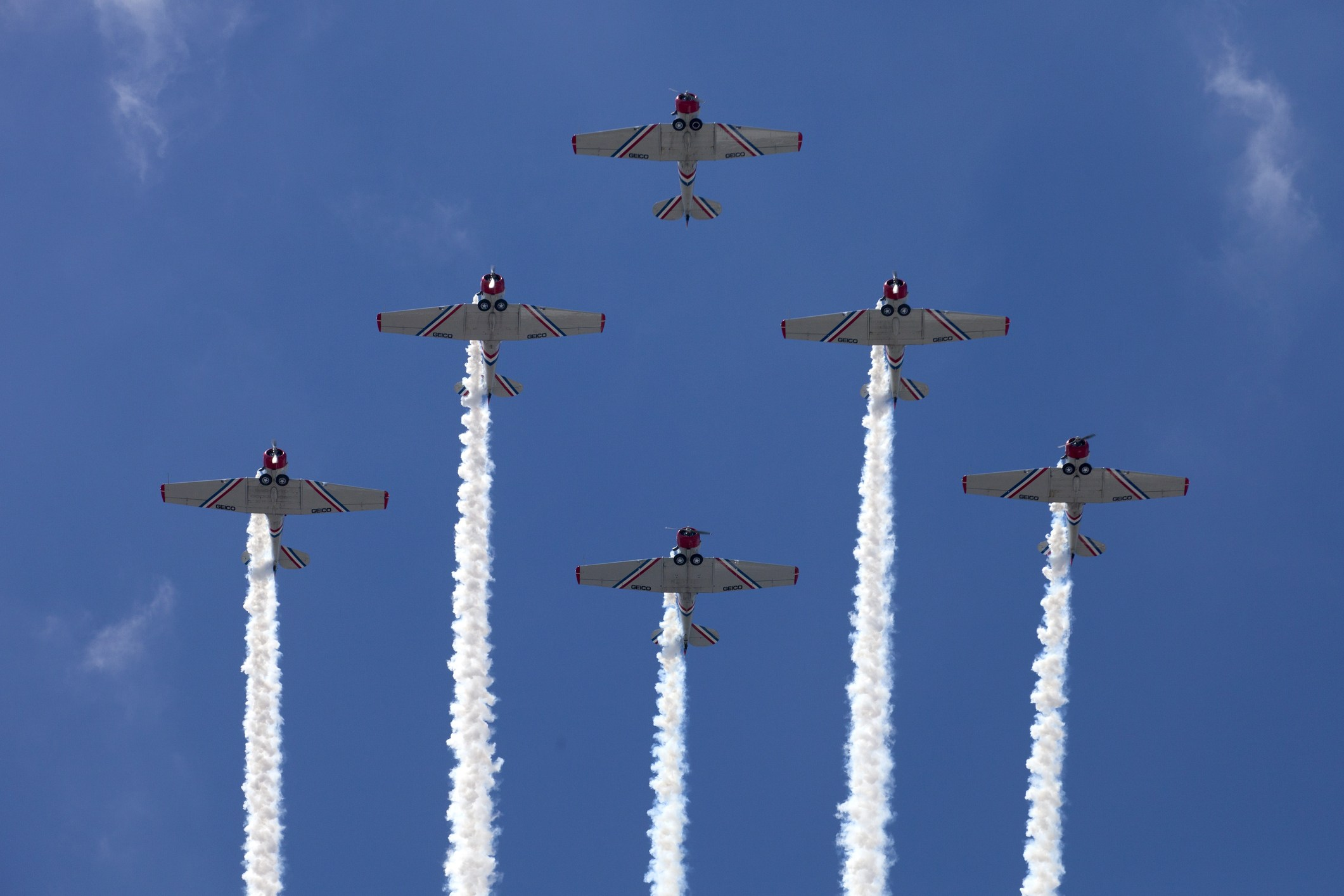 Air Force jets flying in formation