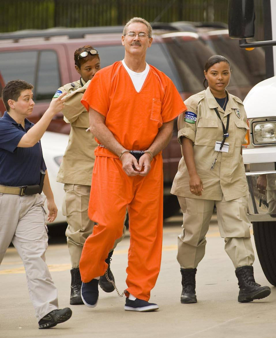 Robert Allen Stanford arrives for a bond hearing at the Bob Casey Federal Courthouse