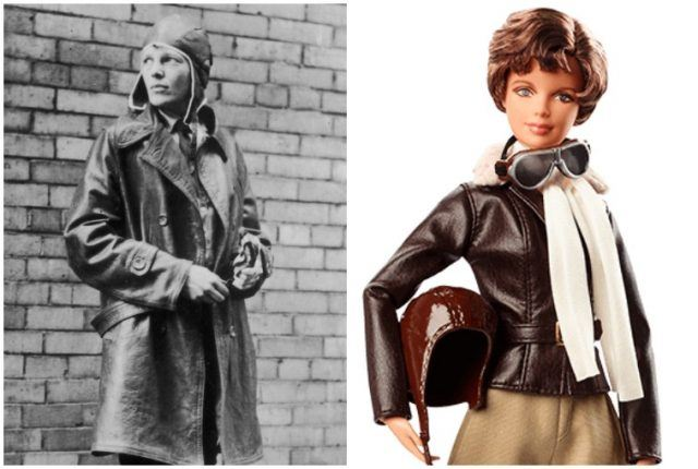 Amelia Earhart collage.
