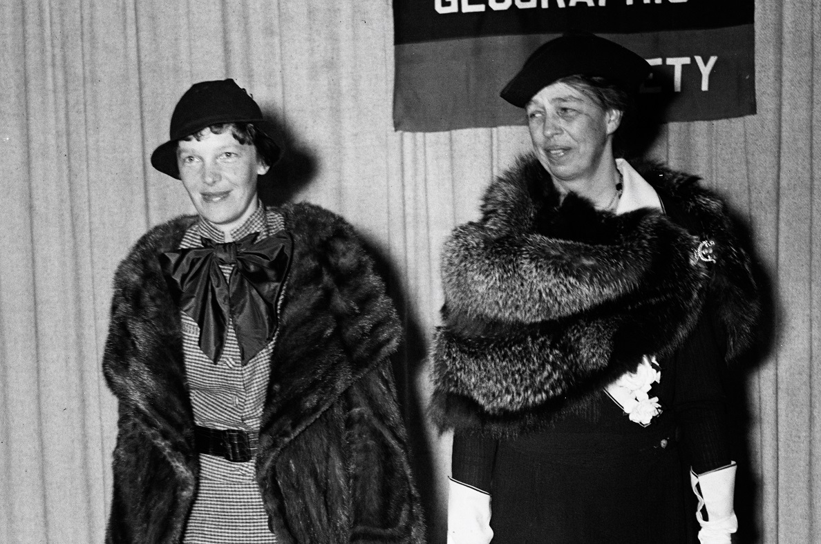 Amelia Earhart and Eleanor Roosevelt