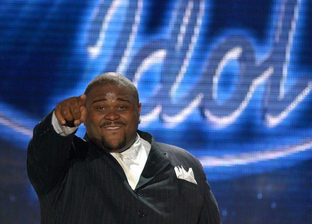 American Idol finalist Ruben Studdard reacts to winning during the show's grand finale