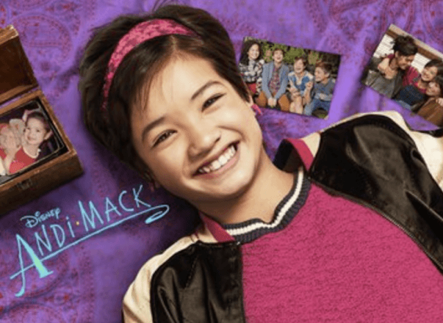 Andi Mack on the Disney poster.