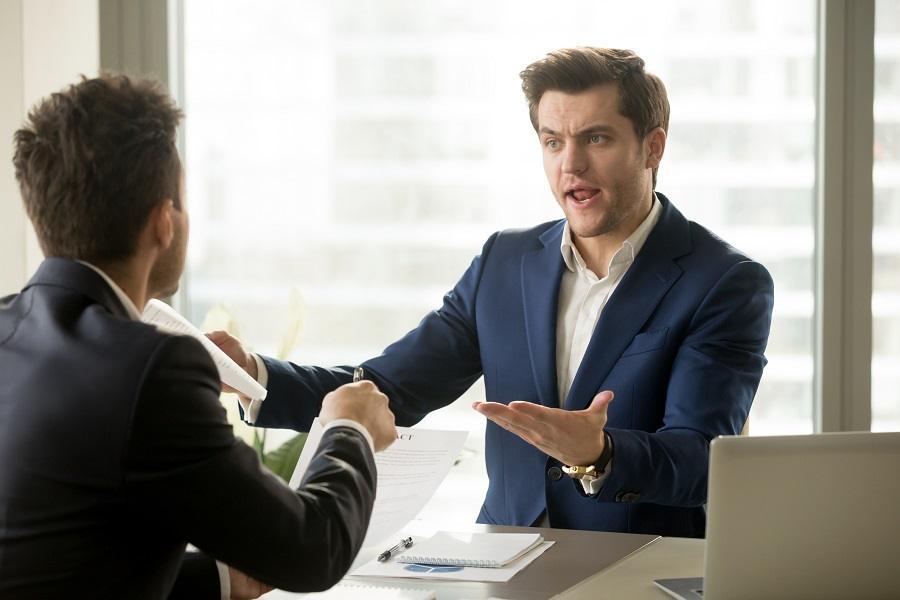 Businessmen arguing