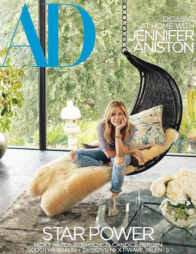 Architectural Digest Jennifer Anniston Cover