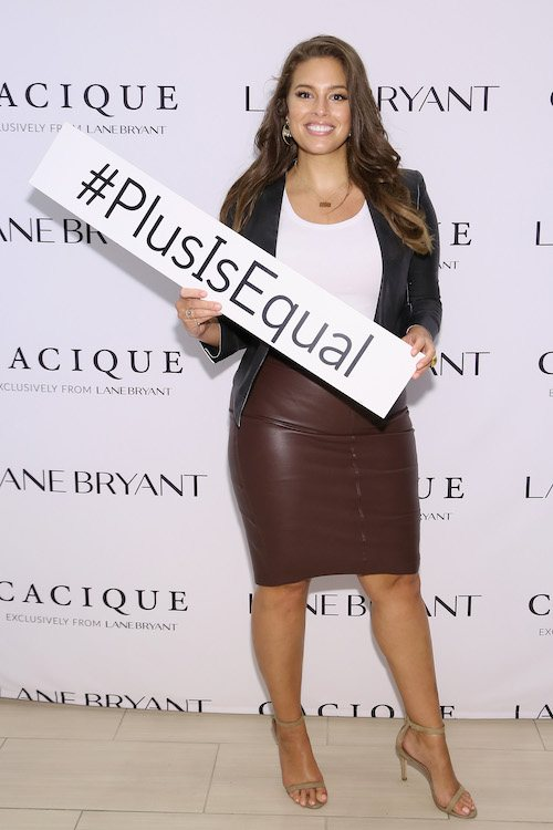 Ashley Graham at a fashion event.