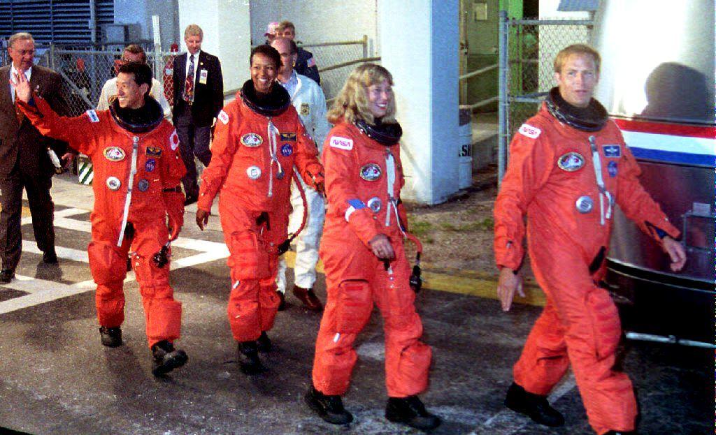Space Shuttle Endeavour astronaut crew members