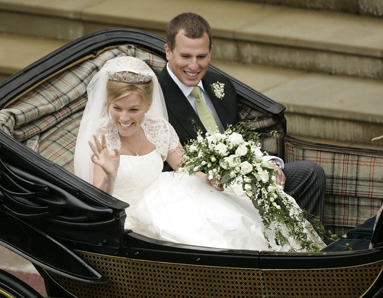 Peter Phillips and Autumn Kelly on their wedding day.