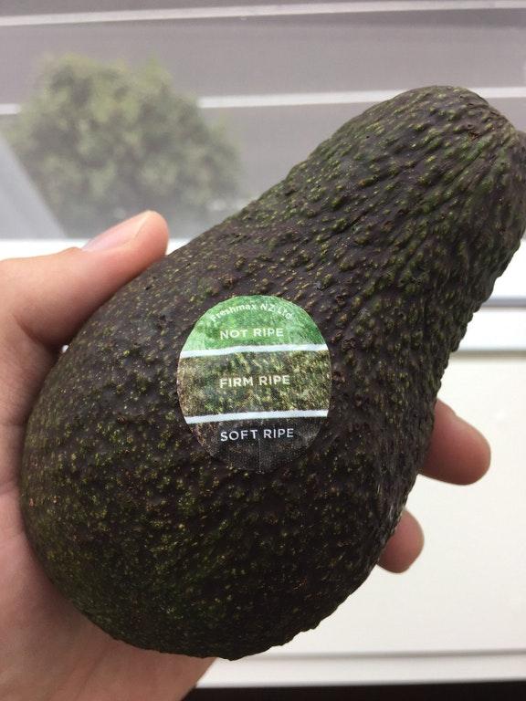 Avocado sticker ripe