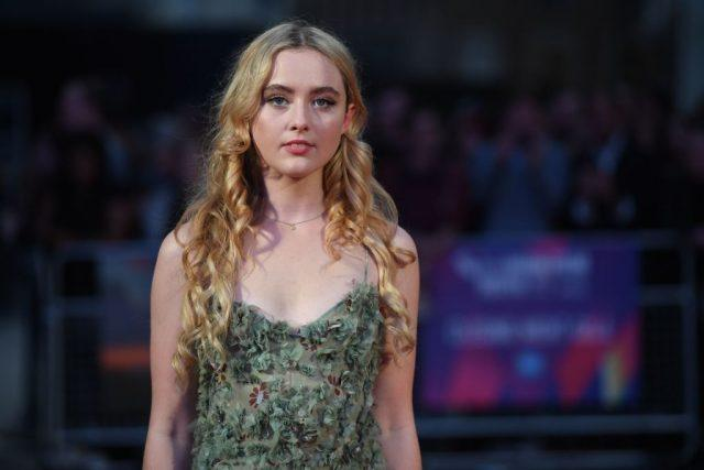 US actress Kathryn Newton poses on the red carpet attending the UK premiere of the film Three Billboards