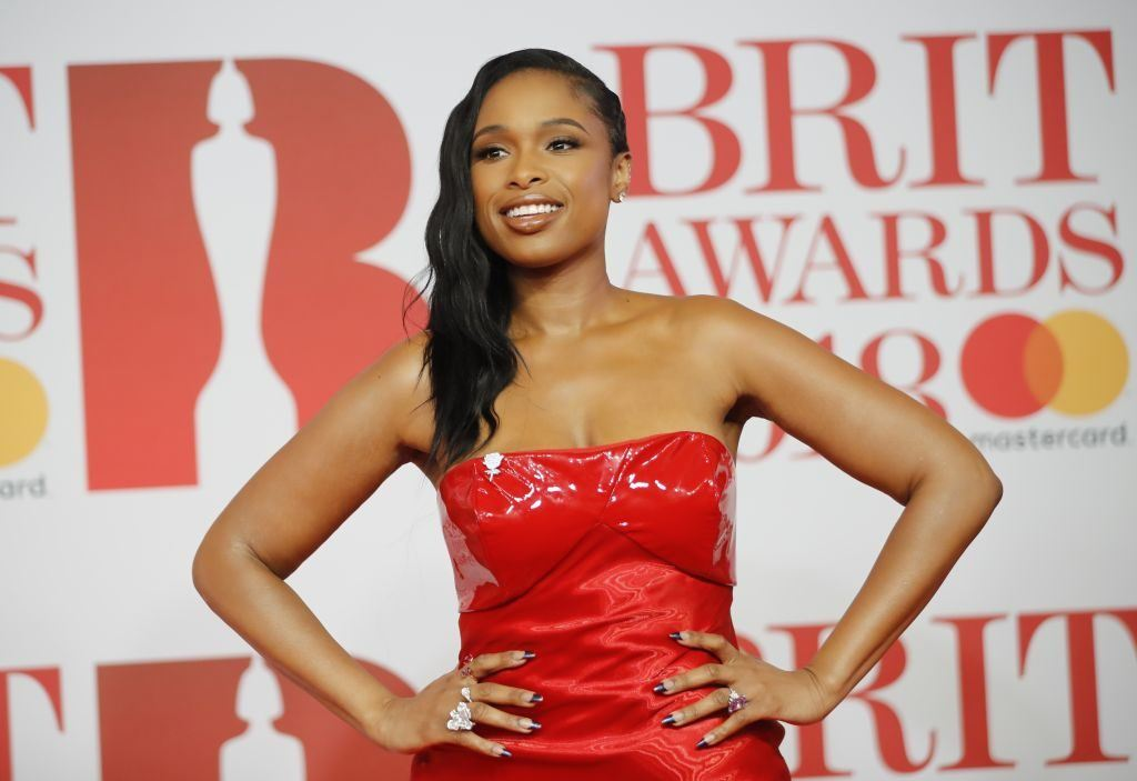 U.S. singer Jennifer Hudson poses on the red carpet on arrival for the BRIT Awards 2018