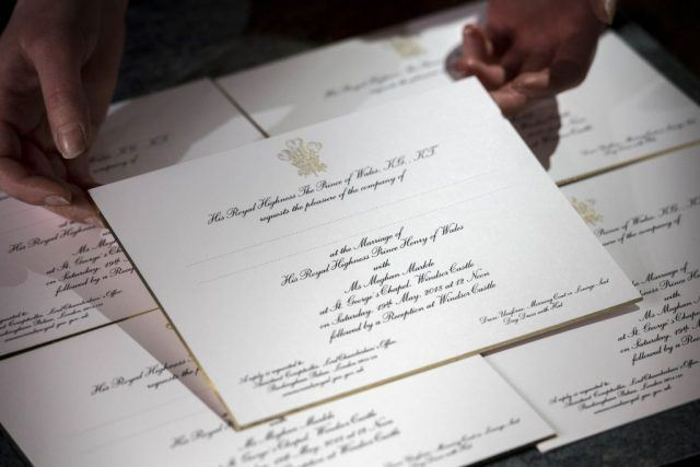 Invitations for the wedding of Britain's Prince Harry and US actress Meghan Markle are picture