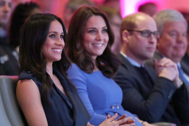 Fiancee of Britain's Prince Harry Meghan Markle Britain's Catherine Duchess of Cambridge and Britain's William, Duke of Cambridge attend the first annual Royal Foundation Forum