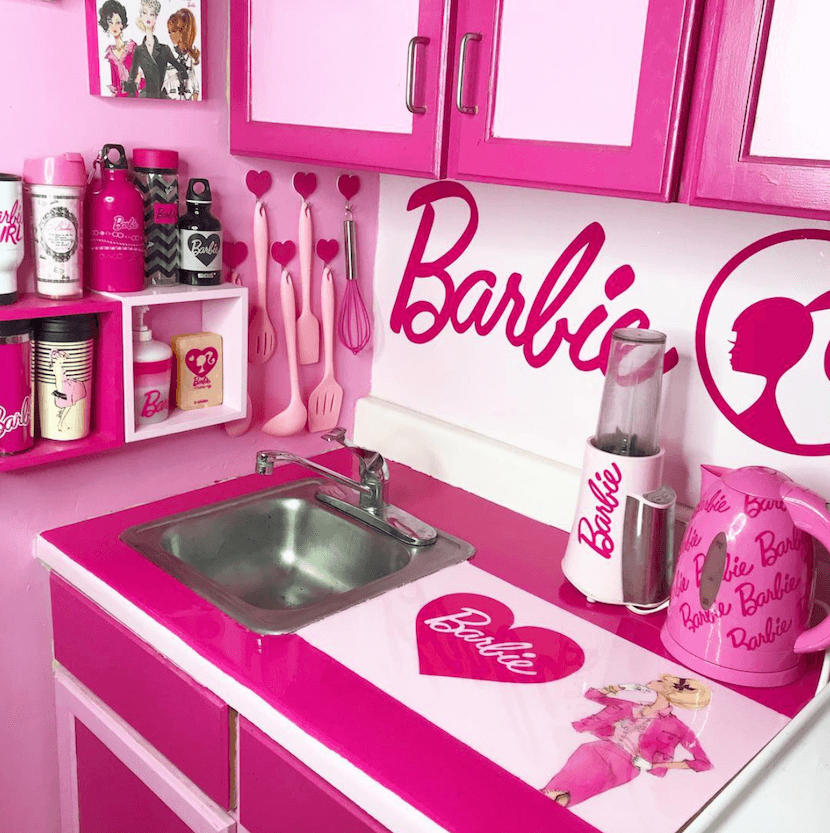 Superfan shows us inside barbie dream home and 70 000 for Kitchen decor collections