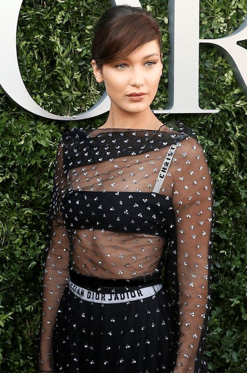 Bella Hadid wearing Dior at a fashion event.