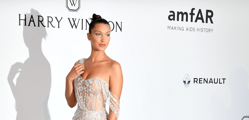 Bella Hadid wearing a gown