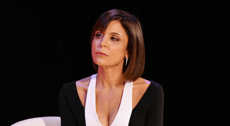 Bethenny Frankel in a black and white dress