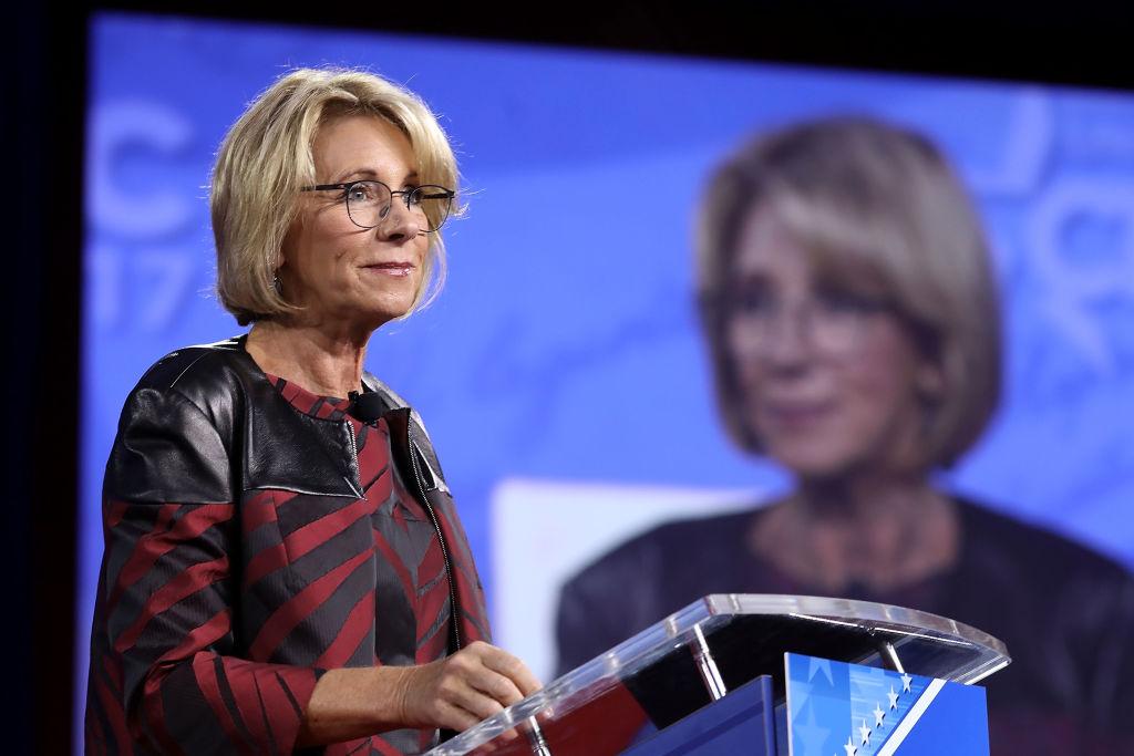 Secretary of Education Betsy DeVos