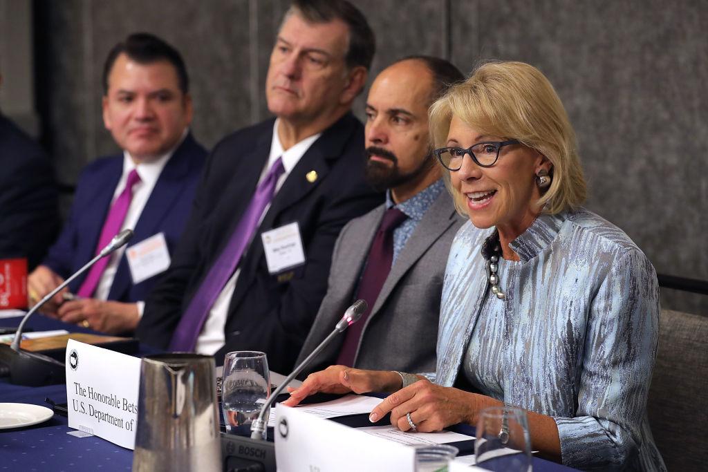 """Betsy DeVos tells mayor to """"rethink"""""""