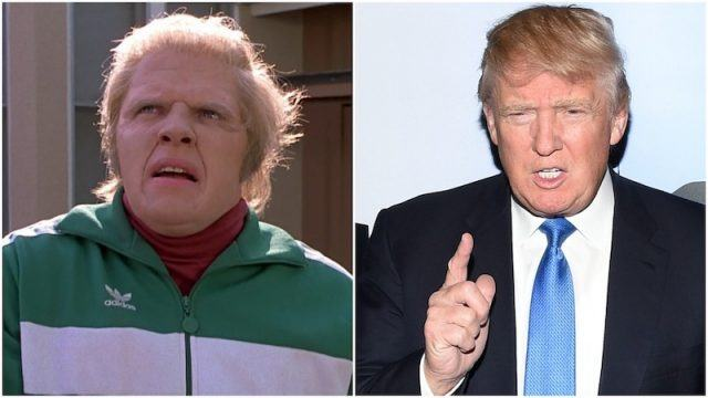 Biff and Donald Trump collage.
