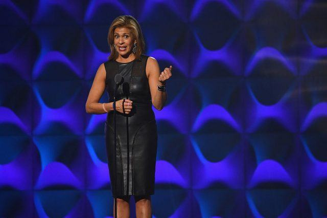 Hoda Kotb presents on stage at the Billboard Women in Music 2016 event