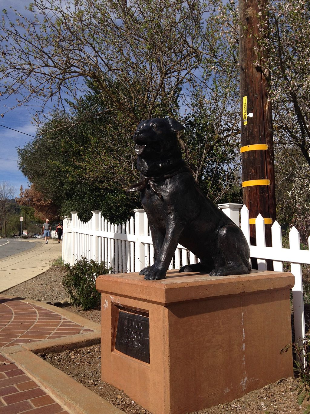 statue of Bosco in Sunol, California