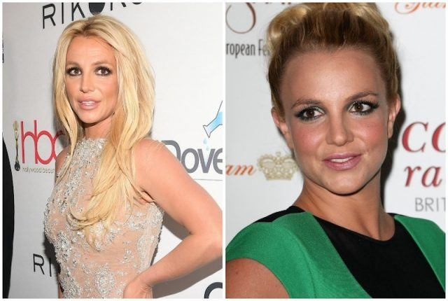 Britney Spears cheeks comparison.