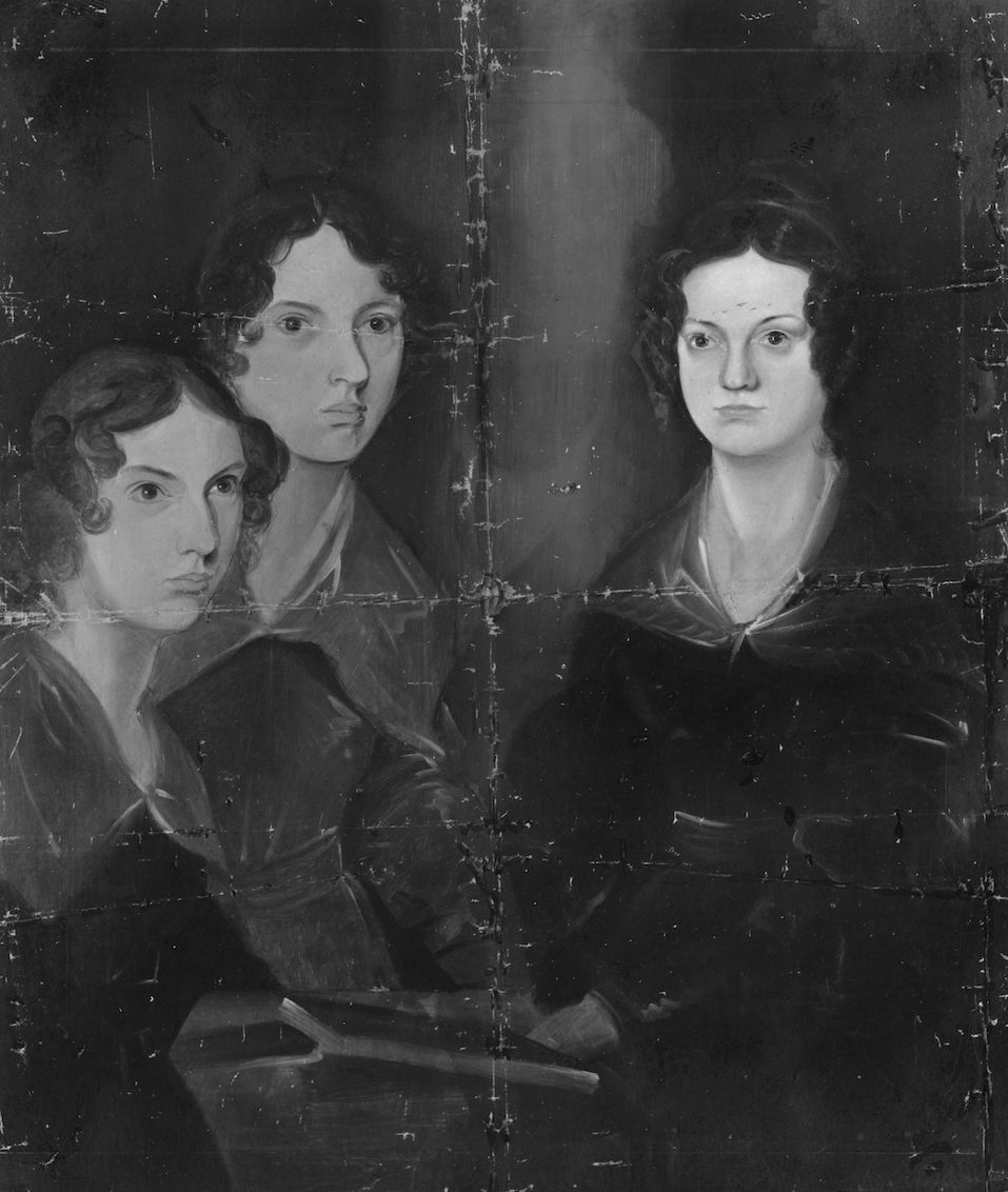 English writers Anne, Emily and Charlotte Bronte. Original Artwork