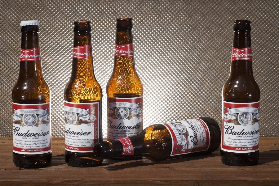 Bottles of Budweiser Beer