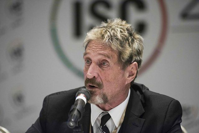 John McAfee, founder of the eponymous anti-virus company