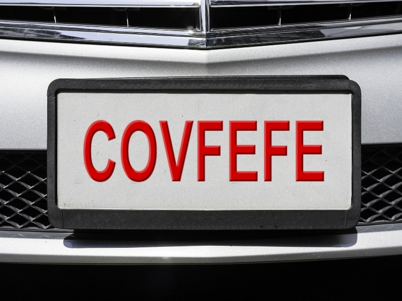 COVFEFE license plate