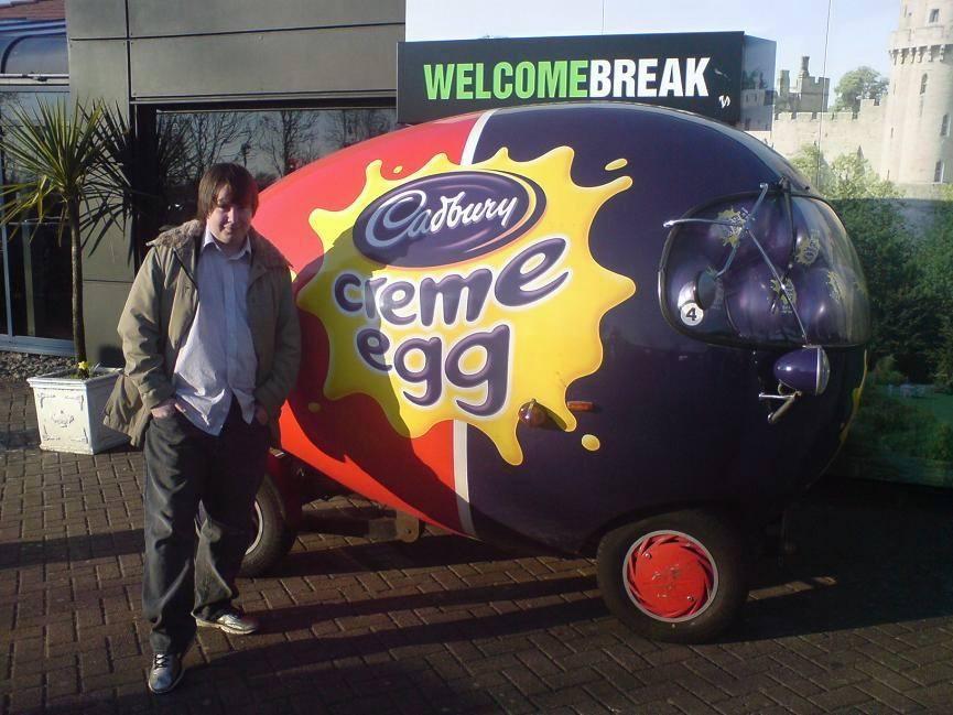 Cadbury Cream egg car