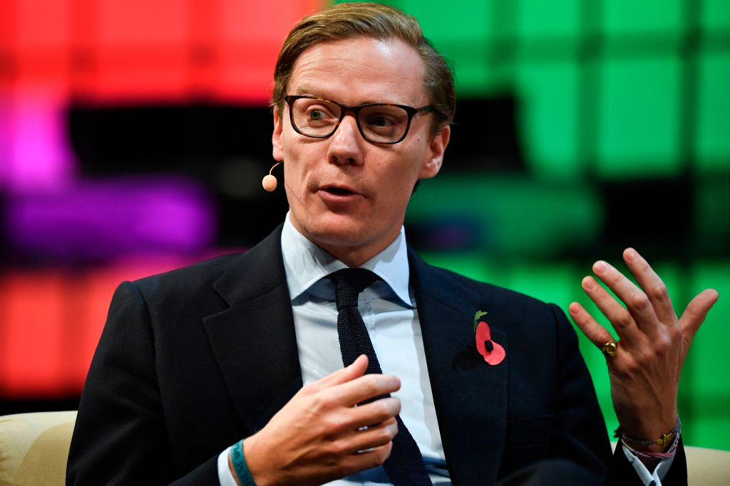 Cambridge Analytica's chief executive officer Alexander Nix gives an interview