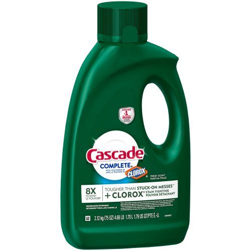 Cascade complete with clorox