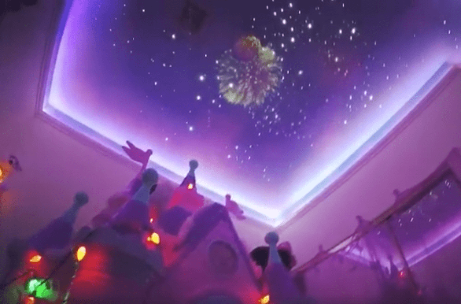Dad Recreates Disney S Fireworks Display In His Daughter S