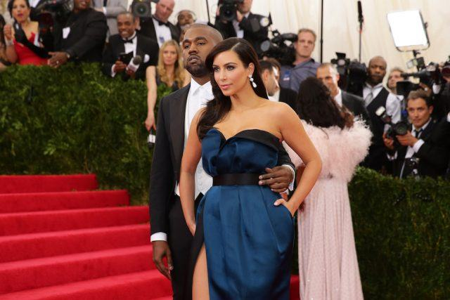 Kim Kardashian and Kanye West attend the 'Charles James: Beyond Fashion' Costume Institute Gala