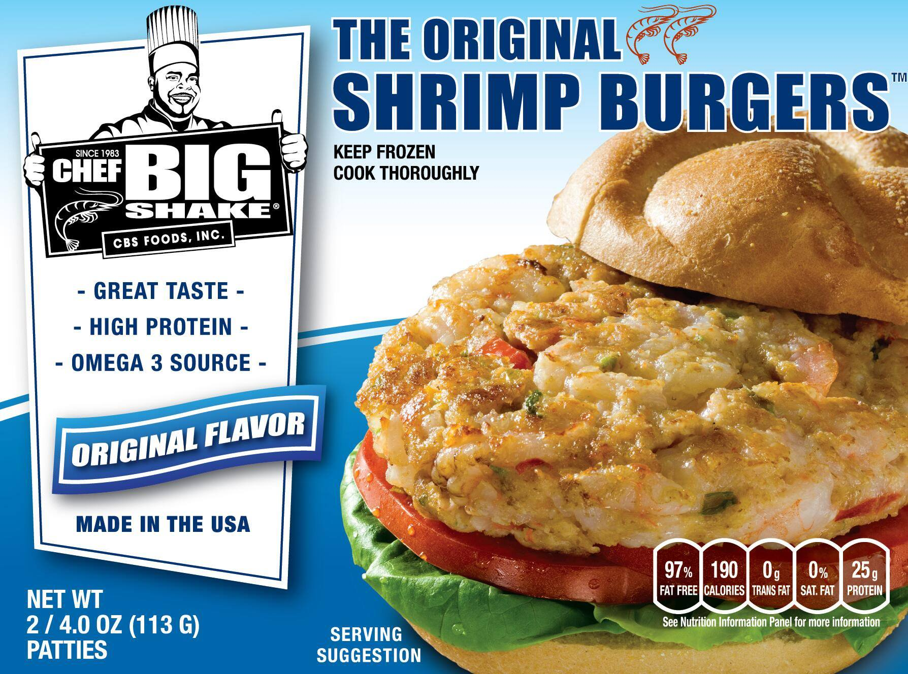 Chef Big Shake shrimp burger