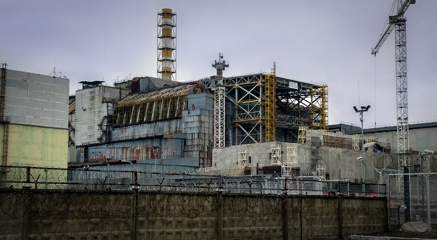 ruined of reactor of Chernobyl