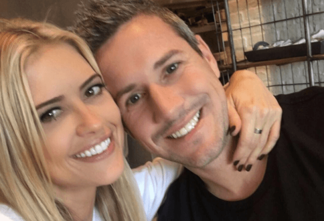 Christina El Moussa and Ant in a selfie.