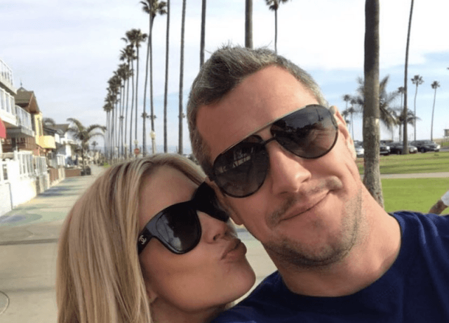 Christina and Anstead in a fun selfie together.