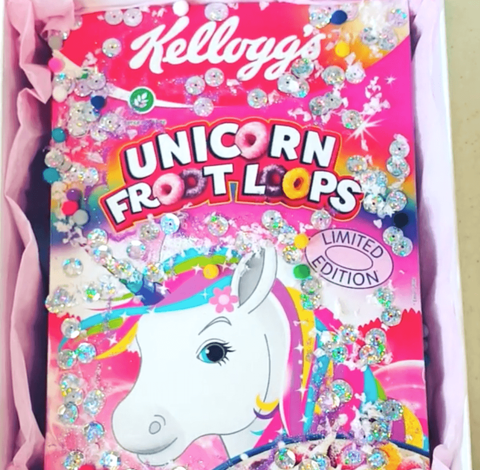 Close up unicorn froot loops