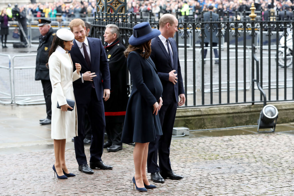 Meghan Markle, Prince Harry, Prince William, Kate Middleton at the Commonwealth Ceremony