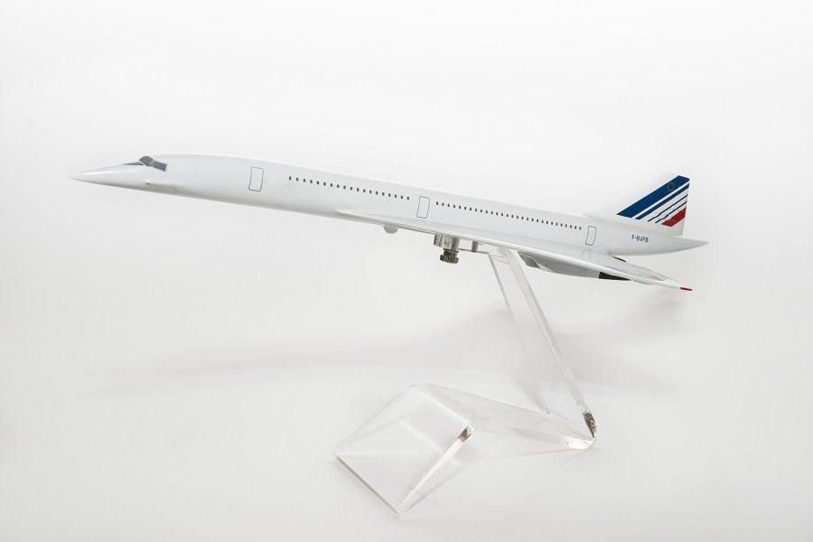Concorde model on white