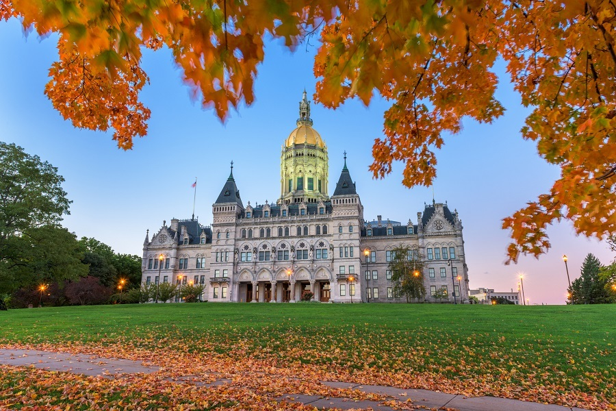 Connecticut State Capitol in Hartford,