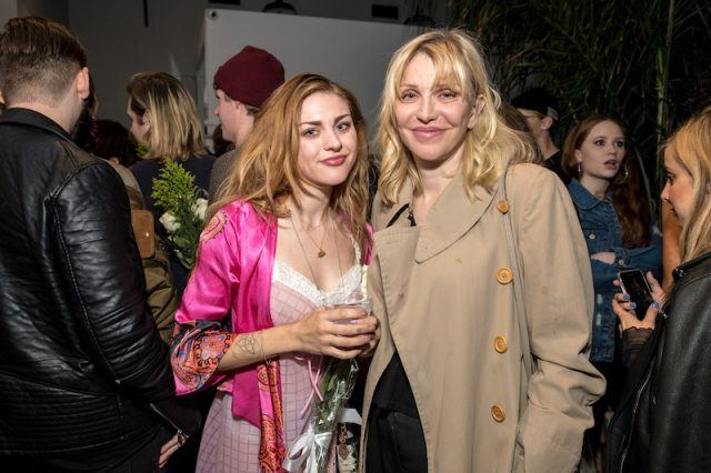 Frances Bean Cobain and her mother, Courtney love, together at an event.
