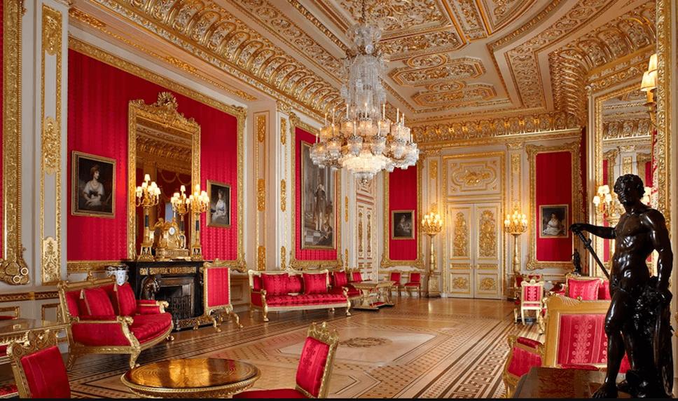 Crimson drawing room Windsor castle