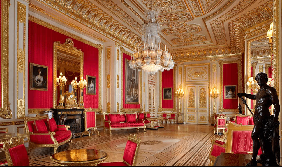 Crimson drawing room Windsor castle